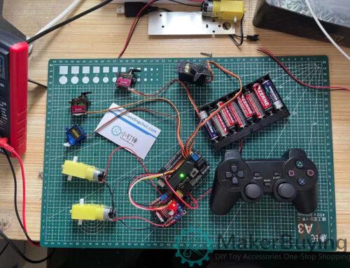 SNAR52 PS2 4 DOF servo motor remote control kit l298n manual